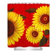 Sunflowers IIi Shower Curtain