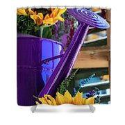 Complementary Sunflowers Shower Curtain
