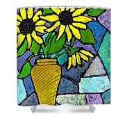 Sunflowers In A Vase Shower Curtain