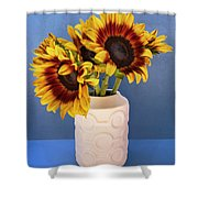 Sunflowers In Circle Vase Tournesols Shower Curtain