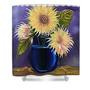 Sunflowers In Vase Shower Curtain
