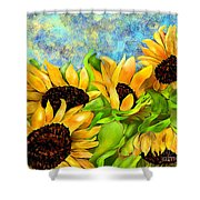 Sunflowers On Holiday Shower Curtain