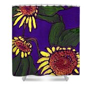 Sunflowers On Purple Shower Curtain