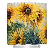Sunflowers Part 2 Shower Curtain