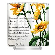 Sunflowers  Poem Shower Curtain