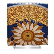 Sunflowers Rich In Blooming Shower Curtain