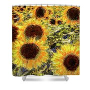 Sunflowers Summer Van Gogh Shower Curtain