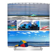 Sunglasses Needed In Paradise Shower Curtain