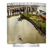 Sunken Fishing Boat Shower Curtain