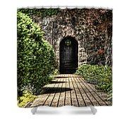 Sunken Garden Doorway Shower Curtain