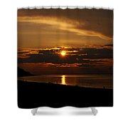 Sunken Sunset Shower Curtain