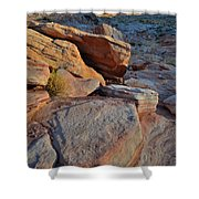 Sunlight Fades Out On Valley Of Fire Shower Curtain