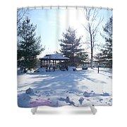 Sunlight In Winter Shower Curtain