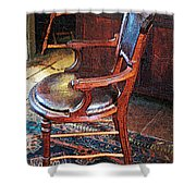 Sunlight On Leather Chair Shower Curtain