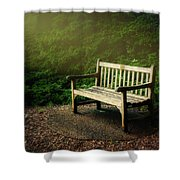 Sunlight On Park Bench Shower Curtain
