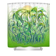 Sunlight On Wet Grass Shower Curtain