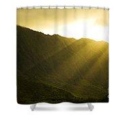 Sunlight Over Kualoa Ranch Shower Curtain