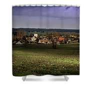 Sunlight Over The Loire Valley Shower Curtain