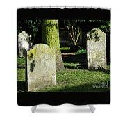 Sunlit Churchyard Shower Curtain
