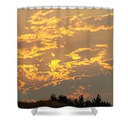 Sunlit Clouds Sunset Art Prints Gifts Orange Yellow Sunsets Baslee Troutman Shower Curtain
