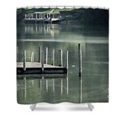 Sunlit Dock Shower Curtain
