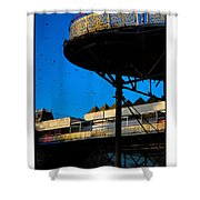 Sunlit Pier Shower Curtain