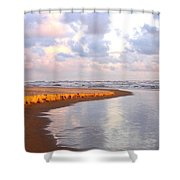 Sunlit Shores Shower Curtain