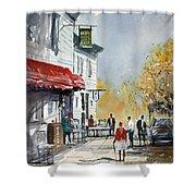 Sunlit Sidewalk - Neshkoro Shower Curtain