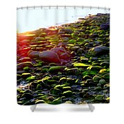 Sunlit Stones Shower Curtain