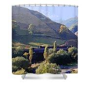 Sunlit Valley  Shower Curtain