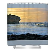 Sunlit Waves - Kauai Dawn Shower Curtain
