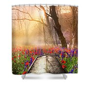 Sunlit Wildflowers Shower Curtain