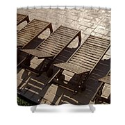 Sunning Chairs Shower Curtain