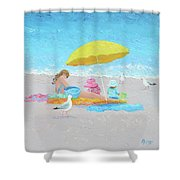 Sunny Beach Days Shower Curtain