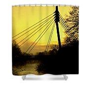 Sunny Bridge Shower Curtain