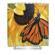 Sunny Butterfly Shower Curtain