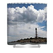 Sunny Day At Marblehead Lighthouse Shower Curtain