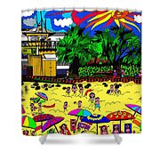 Sunny Day At The Beach Shower Curtain