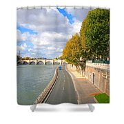 Sunny Day In Paris Shower Curtain