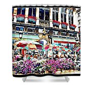 Sunny Day On The Grand Place Shower Curtain