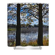 Sunny Day On The Pond Shower Curtain