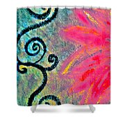 Sunny Day Pink Shower Curtain