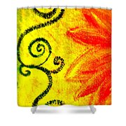 Sunny Day Red Shower Curtain