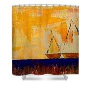 Sunny Day Sail Shower Curtain