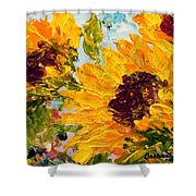 Sunny Day Sunflowers Shower Curtain by Barbara Pirkle