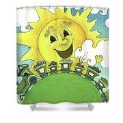Sunny Day Train Shower Curtain