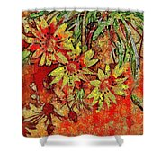 Sunny Day Yellow Daisies  Shower Curtain