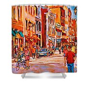 Sunny Downtown  Shower Curtain