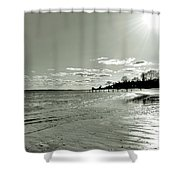 Sunny March Day On The West Beach Shower Curtain