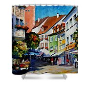 Sunny Meersburg - Germany Shower Curtain